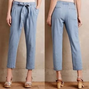 Anthropologie Chambray Pants